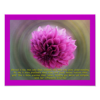 Bible Verse Proverbs 3 13-15 Posters