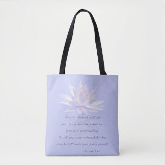 Bible Verse | Proverbs 3:5-6 Tote Bag