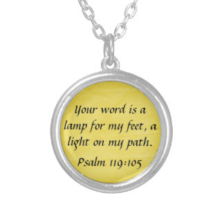 bible verse Psalm 119 105 necklace