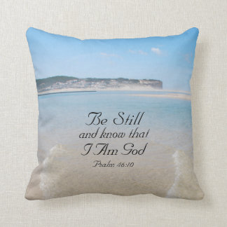 Bible Verse Psalm 46:10 Ocean View Pillow