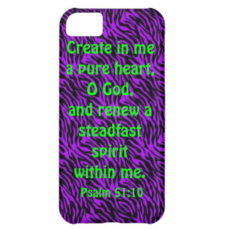 bible verse Psalm 51:10 iPhone 5c cover
