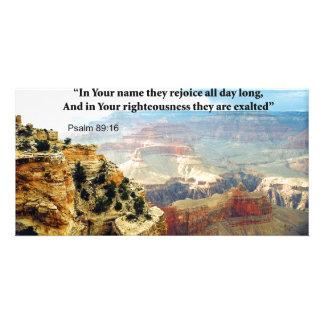 Bible Verse Psalm 8-16 Invitation Cards Customized Photo Card