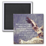 Bible Verse: Renew Strength, Wings as Eagles Square Magnet