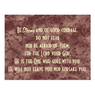 Bible Verse Scripture Be Strong Postcard