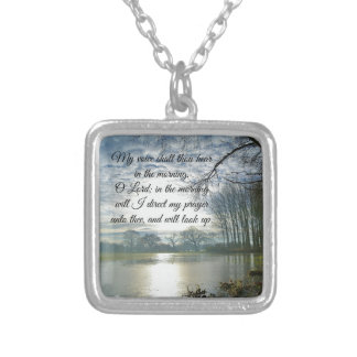 Bible Verse Scripture Prayer Square Pendant Necklace