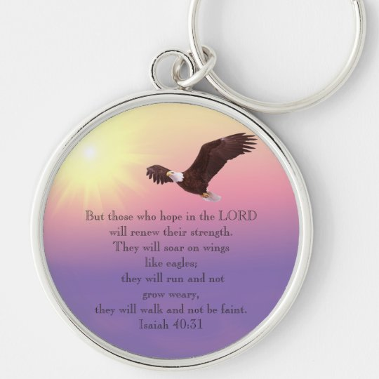 Bible Verse-Soar with Wings as Eagles-Keychain Key Ring
