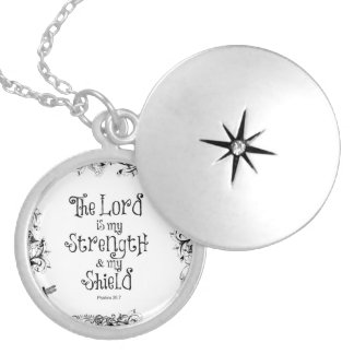 Bible Verse The Lord is my Strength Pendant