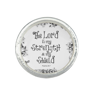 Bible Verse The Lord is my Strength Photo Ring