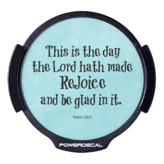 Bible Verse This is the Day the Lord hath Made LED Car Window Decal
