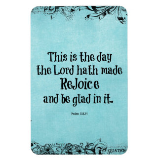 Bible Verse This is the Day the Lord hath Made Rectangle Magnets