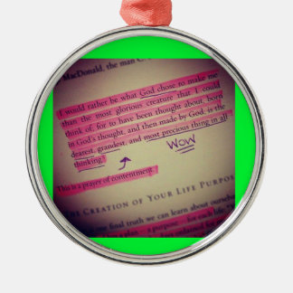 Bible verse tree hanger Silver-Colored round decoration