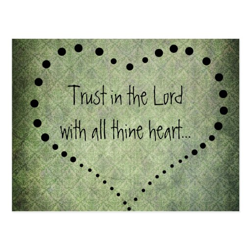 Bible Verse Trust in the Lord Post Cards
