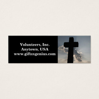 Bible Verse Volunteer Appreciation Gift Mini Business Card