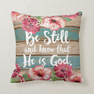 Bible Verse Watercolor Floral Pillow Cushion