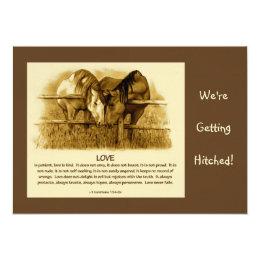 Bible verse wedding invitations announcements zazzle bible verse wedding invite horses pencil card stopboris Image collections