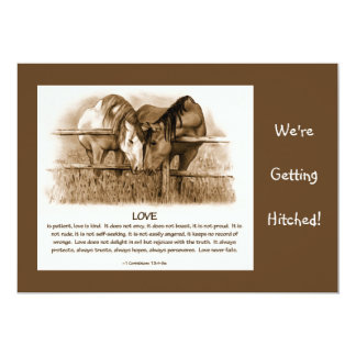 BIBLE VERSE: WEDDING INVITE: HORSES, PENCIL