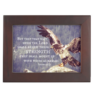 Bible Verse: Wings as Eagles Keepsake Box