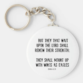 Bible Verse: Wings as Eagles Key Chain