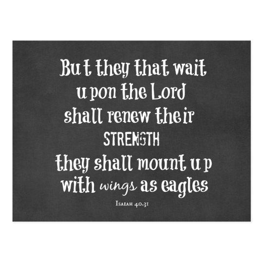 Bible Verse: Wings as Eagles Postcard