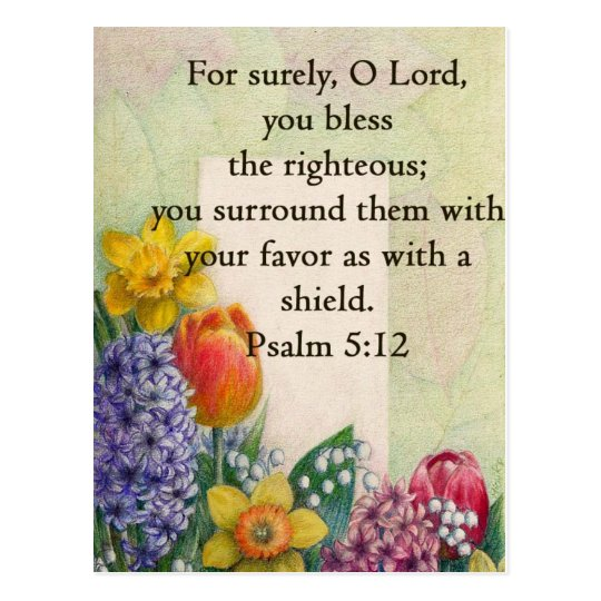Bible verse with beautiful flower pictuer postcard