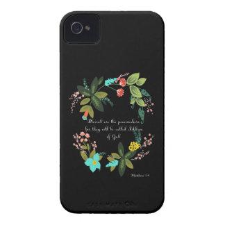 Bible Verses Art - Matthew 5:9 Case-Mate iPhone 4 Case