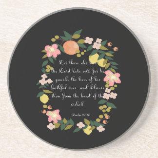 Bible Verses Art - Psalm 97:10 Coaster