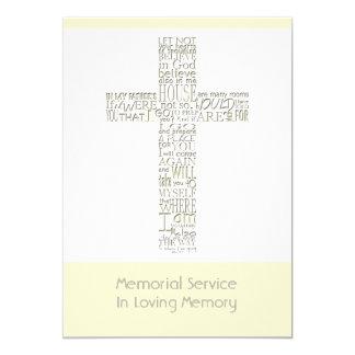 Bible Verses from John 14 Memorial Service 12 13 Cm X 18 Cm Invitation Card
