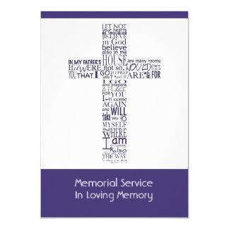 Bible Verses from John 14  Memorial Service 4 13 Cm X 18 Cm Invitation Card