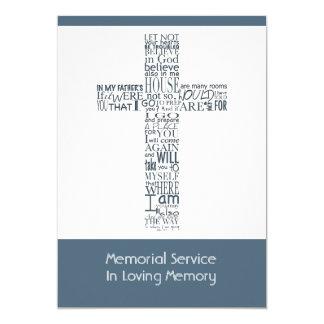 Bible Verses from John 14 Memorial Service 7 13 Cm X 18 Cm Invitation Card