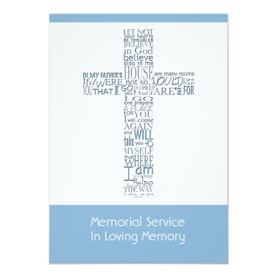 Bible Verses from John 14 Memorial Service 9