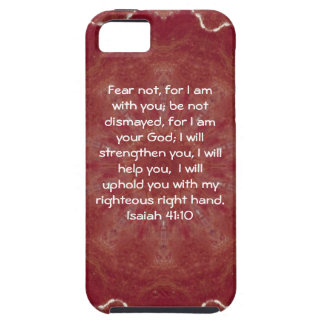 Bible Verses Inspirational Quote Isaiah 41:10 iPhone 5 Case