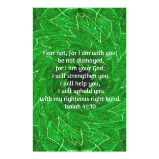 Bible Verses Inspirational Quote Isaiah 41:10 Customized Stationery