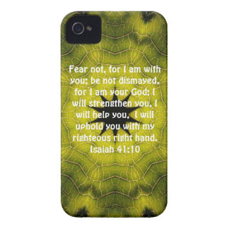 Bible Verses Inspirational Quote Isaiah 41:10 iPhone 4 Cover