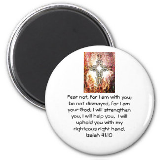 Bible Verses Inspirational Quote Isaiah 41:10 Magnet