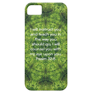 Bible Verses Inspirational Quote Psalm 32:8 iPhone 5 Covers