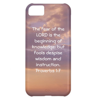 Bible Verses Wisdom Quote Saying Proverbs 1:7 iPhone 5C Cases