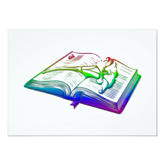 Bible with Easter Lily 13 Cm X 18 Cm Invitation Card