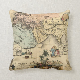 Bible World known to-the Ancients Throw Pillow