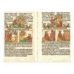 Biblia Paupernum Nativity Postcard