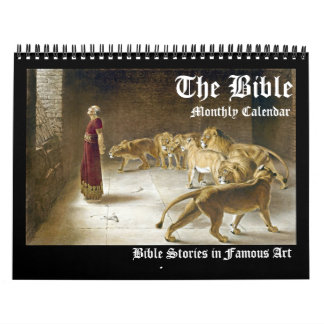 Biblical Bible Fine Art Monthly Artwork 2017 Calendars