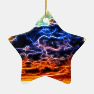 Biblical Electrified Cumulus Clouds Skyscape Christmas Ornament