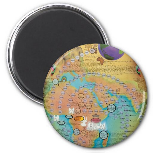 Biblical Genealogy Charts 6 Cm Round Magnet