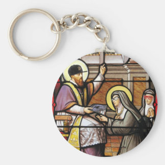 Biblical hip-hop basic round button key ring