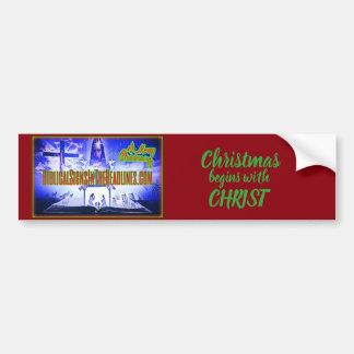 "Biblical Signs ITH ""2017 CHRISTMAS"" bumper sticker"