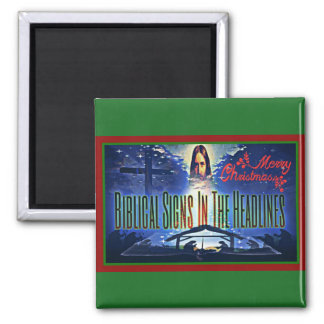 """Biblical Signs """"Merry Christmas"""" Magnet"""