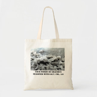 Biblical Verse Seasoned with Salt Budget Tote Budget Tote Bag