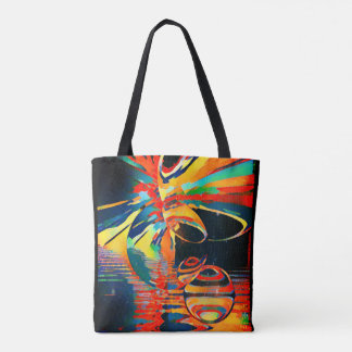 Biblical Vision of a Dying Peacock Tote Bag