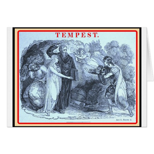 Bibliomania: Shakespeare The Tempest Card