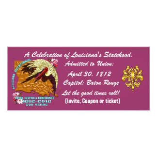Bicentennial Louisiana Important See Notes Below Rack Card Template