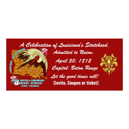 Bicentennial Louisiana Important See Notes Below Custom Rack Cards